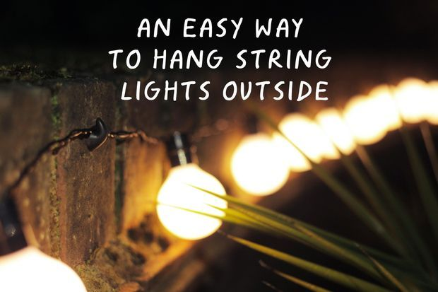 An Easy Way To Hang String Lights Outside Christmas