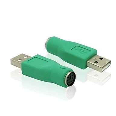 USB 2.0 mannelijk naar ps / 2 vrouwelijke adapter converter computer toetsenbord en muis-adapter connector - EUR € 1.95