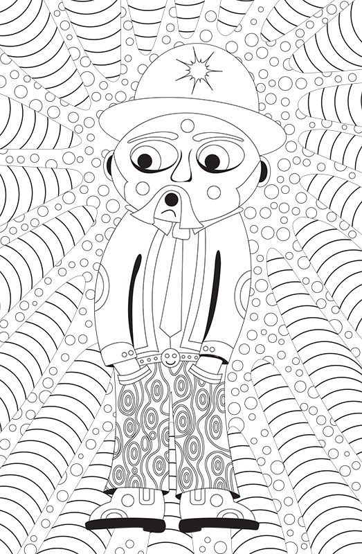 A preview of one of the images from my colouring book. If you would like to support the project and get a copy please have a look at my website www.totallymentallyunstable.com