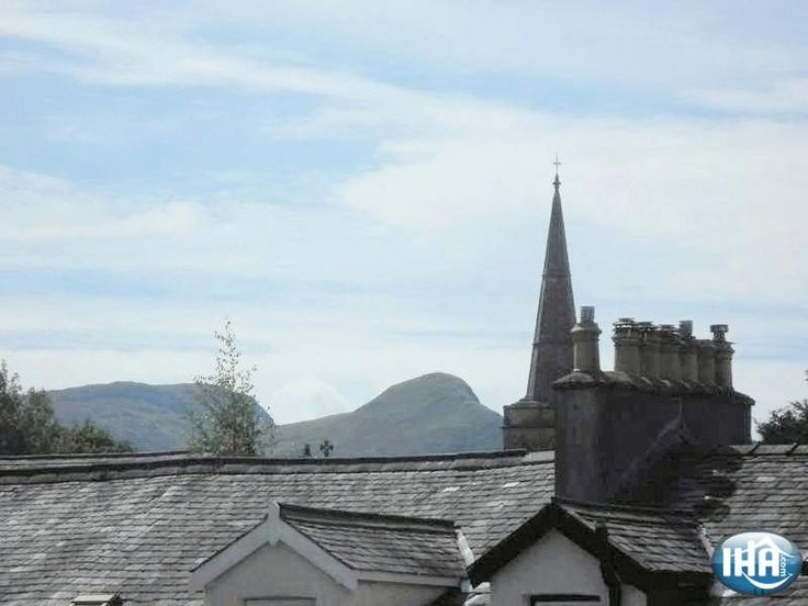 View from one of the bedrooms at Hedgehog Hill Guest House in Keswick, Cumbria, North West England.