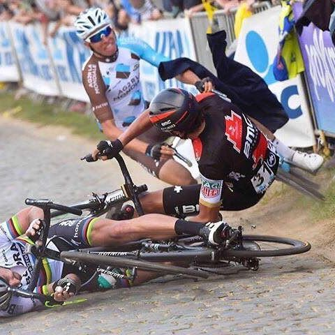 Oliver Naesen once again showed his class by matching the world's strongest men when it counted. This is the moment that his dreams of winning Tour of Flanders were shattered.