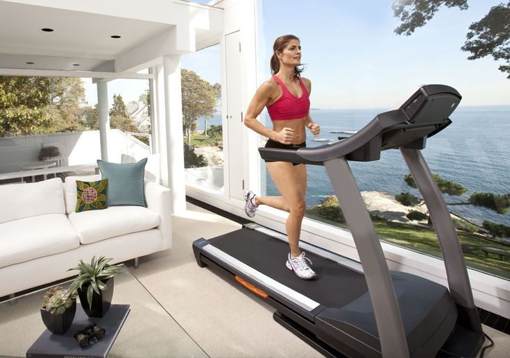 I love running on the treadmill.  If only I could do it in this setting...