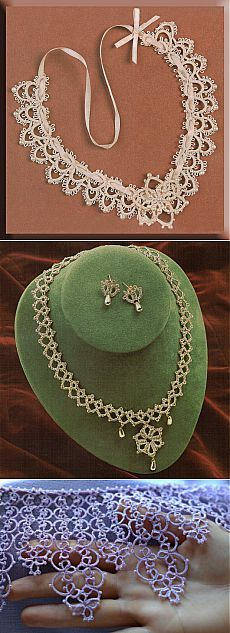 Russian Facebook page with many tatting patterns, predominately jewelry