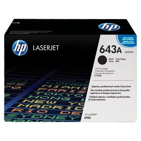 HP 643A toner LaserJet noir authentique (Q5950A) pour HP Color LaserJet 4700