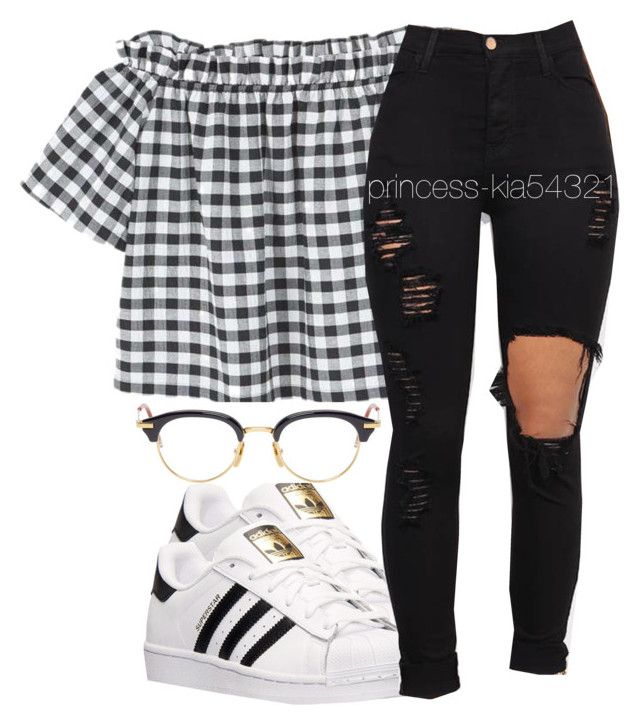 """""""*"""" by princess-kia54321 ❤ liked on Polyvore featuring adidas, MANGO, Vibrant and Thom Browne"""