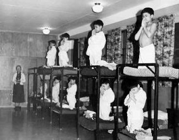 Residential Schools....awful assimilation forced on little Natives. :(