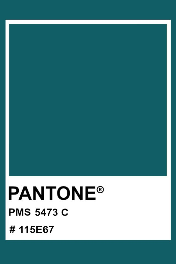 pantone 5473 c color pms hex teal in 2020 colour palettes swatches 7455 2757