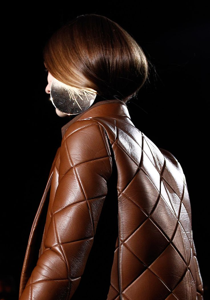 Givenchy Fall 2012 - quilted leather