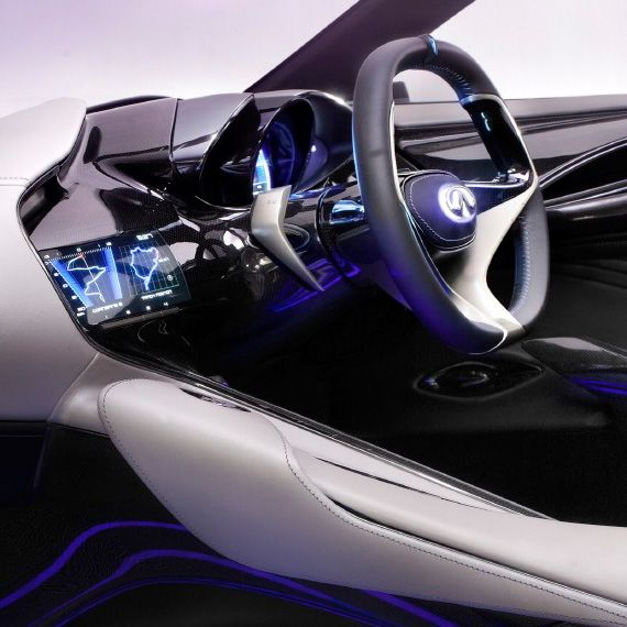 future car futuristic car interior infiniti emerg e concept 2012 geneva motor show luxury. Black Bedroom Furniture Sets. Home Design Ideas