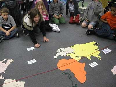Third Grade Thinkers: Where in the World? This activity would be great as a review before a assessment. Students do this as a group or on their own.