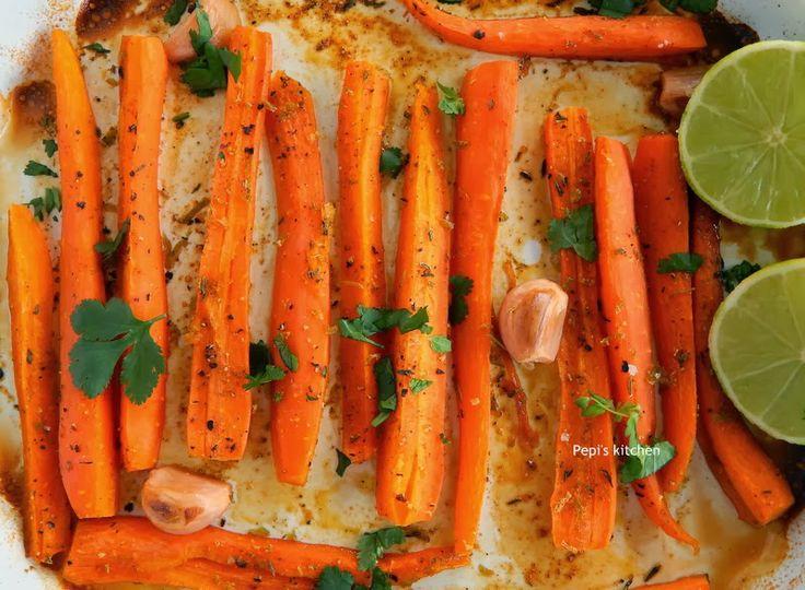 Ψητά καρότα με μέλι