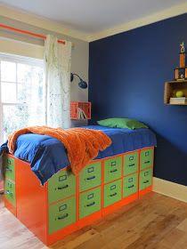 6 file cabinets  = loft bed