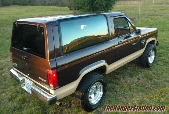 Forum member 'Sultan's dark walnut metallic 1986 Ford Bronco II.