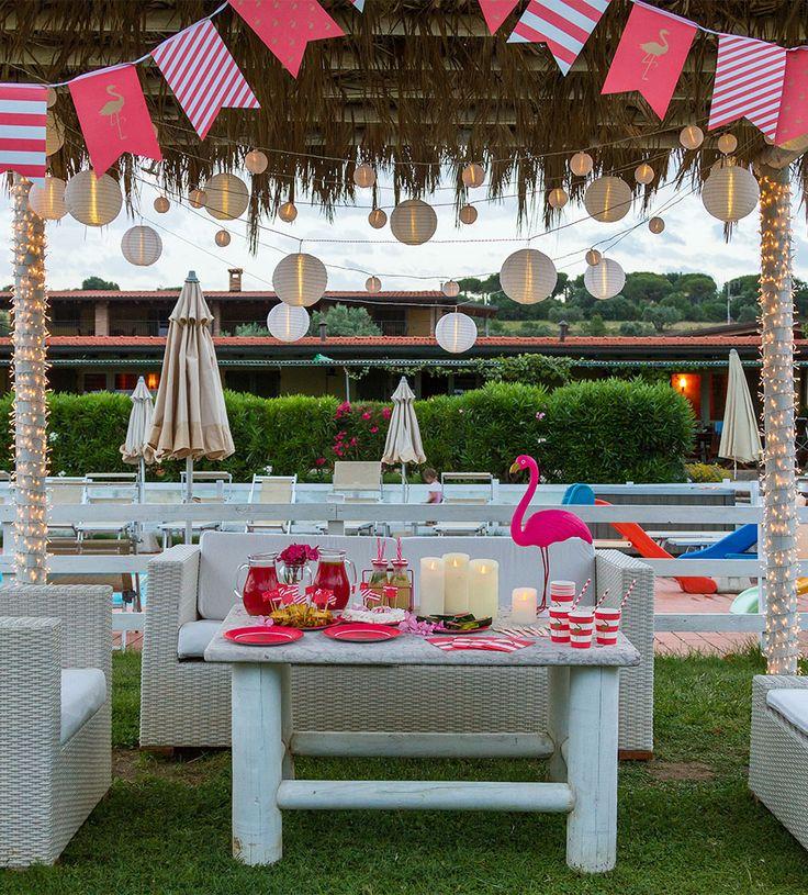 Festa tropicale in giardino feste estive luci e for Ditte arredamento