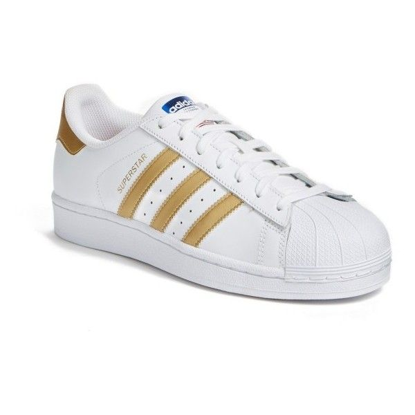 Women's Adidas Superstar Sneaker (5,090 INR) ❤ liked on Polyvore featuring shoes, sneakers, adidas trainers, adidas shoes, adidas footwear, adidas and retro sneakers
