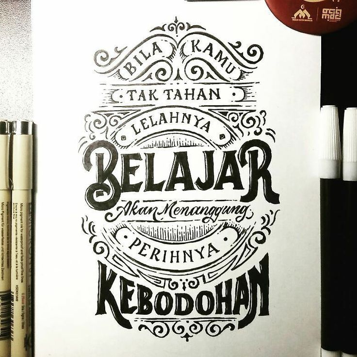 "Kaligrafi Lettering Indonesia on Instagram ""Mari berbagi"