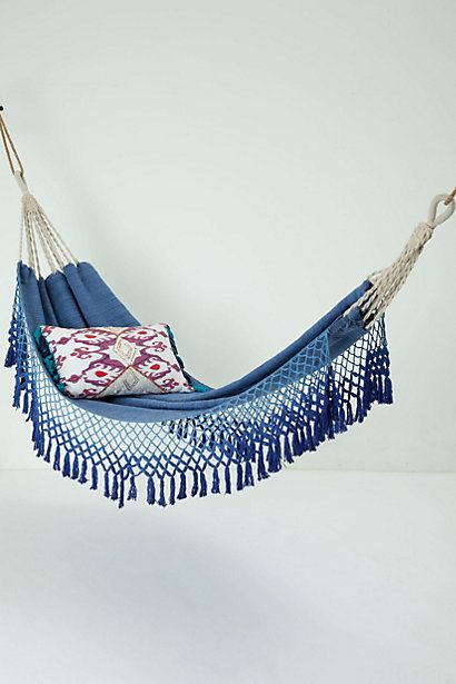 <3 this Handwoven Hammock in blue