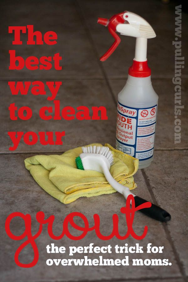 Here's a tip for overwhelmed moms who find grout cleaning to just be ONE more thing. I have the solution for you. #pullingcurls