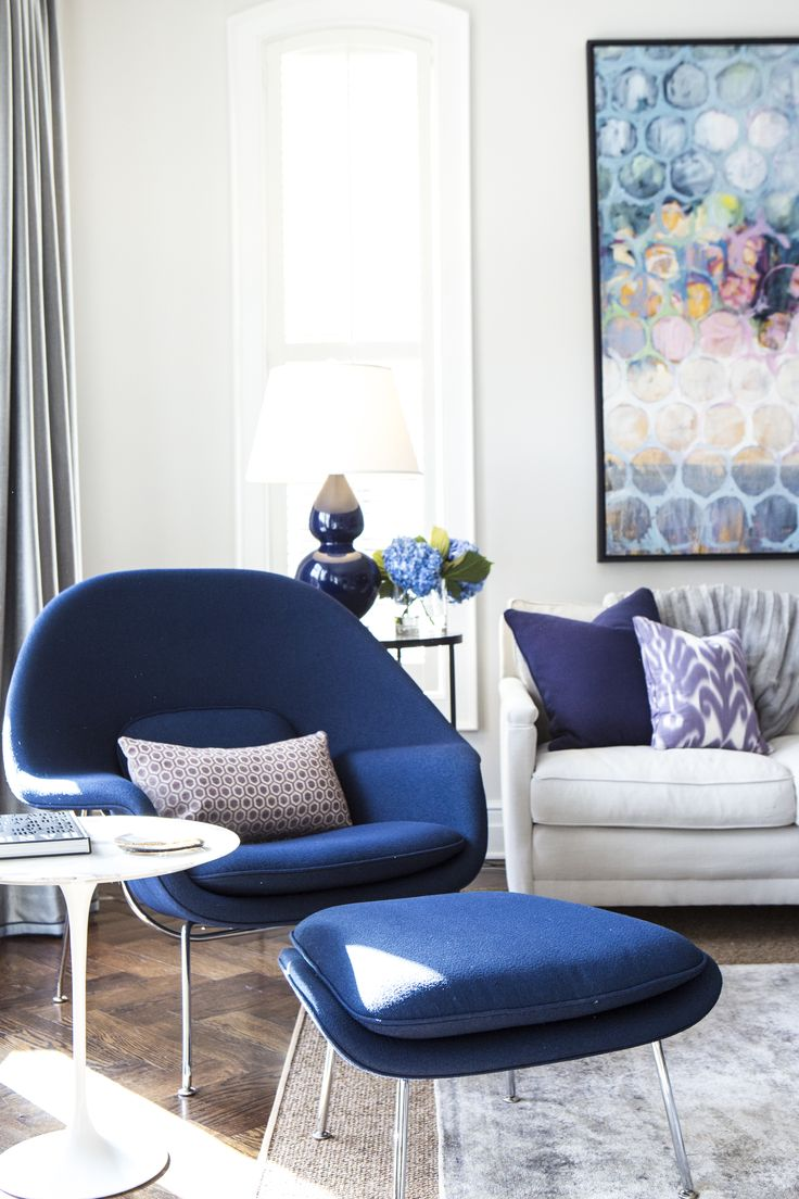 Womb chair living room - Alexandra Kaehler Design Family Room Womb Chair Photo By Heather Talbert