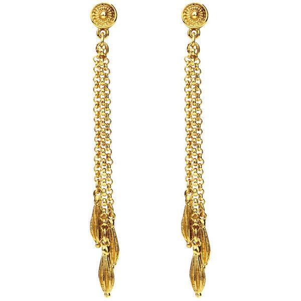 Gypset medallion tassel earrings ($159) ❤ liked on Polyvore featuring jewelry, earrings, gypsy earrings, medallion jewelry, 24-karat gold jewelry, 24 karat gold earrings and 24k earrings