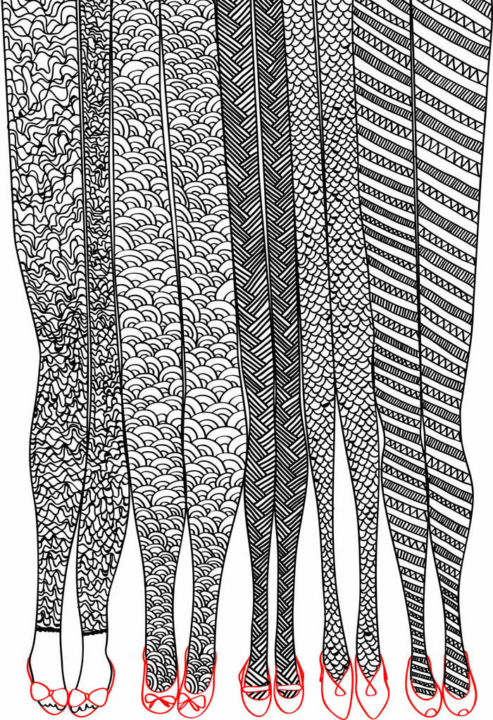 Have templates of legs and the girls can design leggings in a zentangle-type lesson on a day when a sub is needed.
