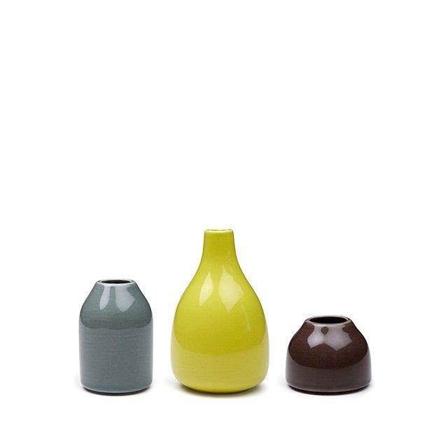 Botanica Vases Miniature 3-pack Dark