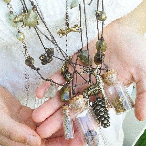 Dreaming bear by woodlandjewelries on Etsy