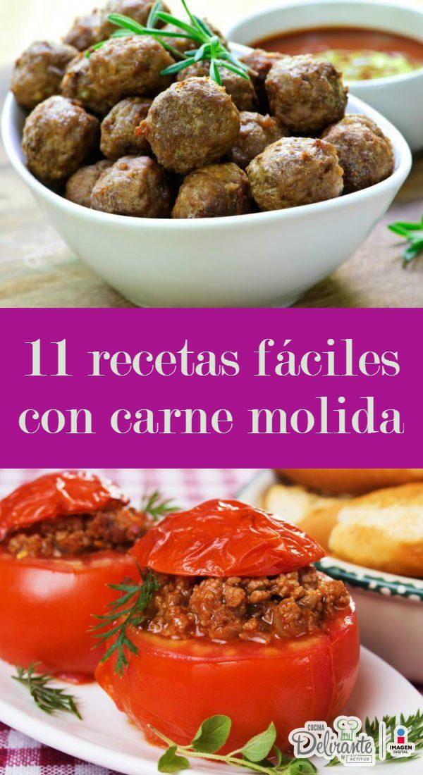Recetas faciles con carne molida