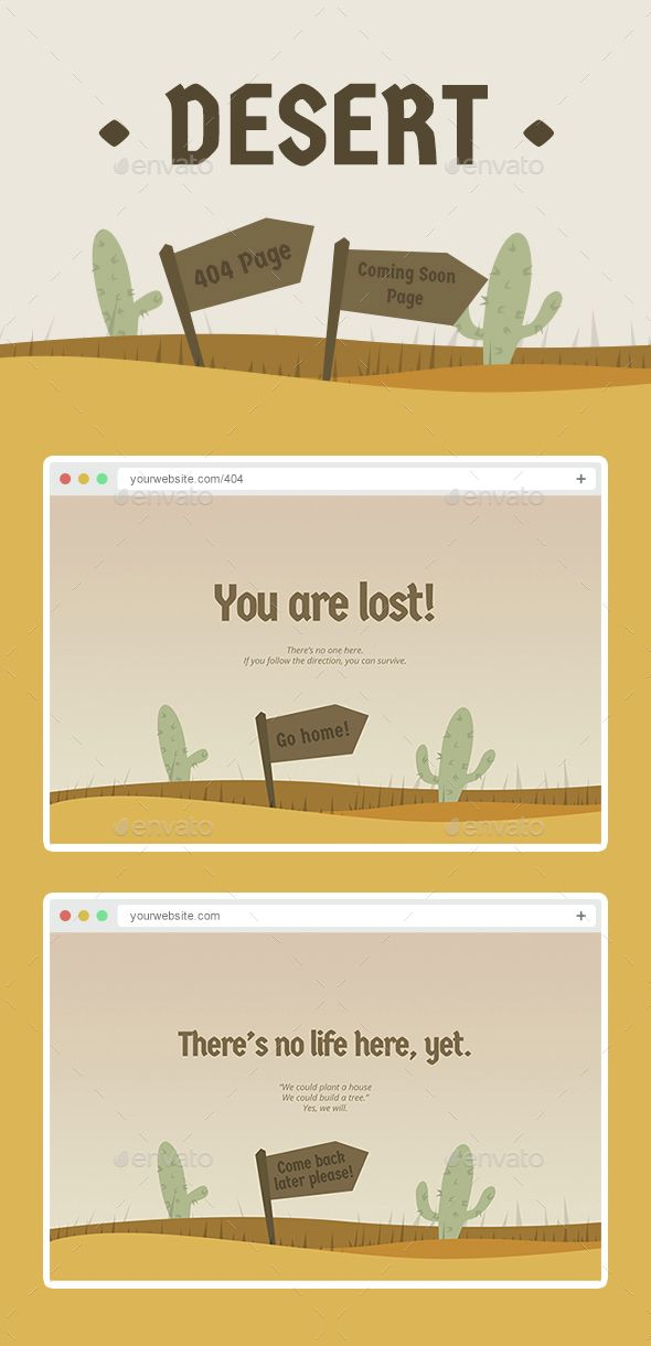 Desert - 404 Page and Coming Soon Page Design - 404 Pages Web Elements Download here : https://graphicriver.net/item/desert-404-page-and-coming-soon-page-design/14621164?s_rank=7&ref=Al-fatih