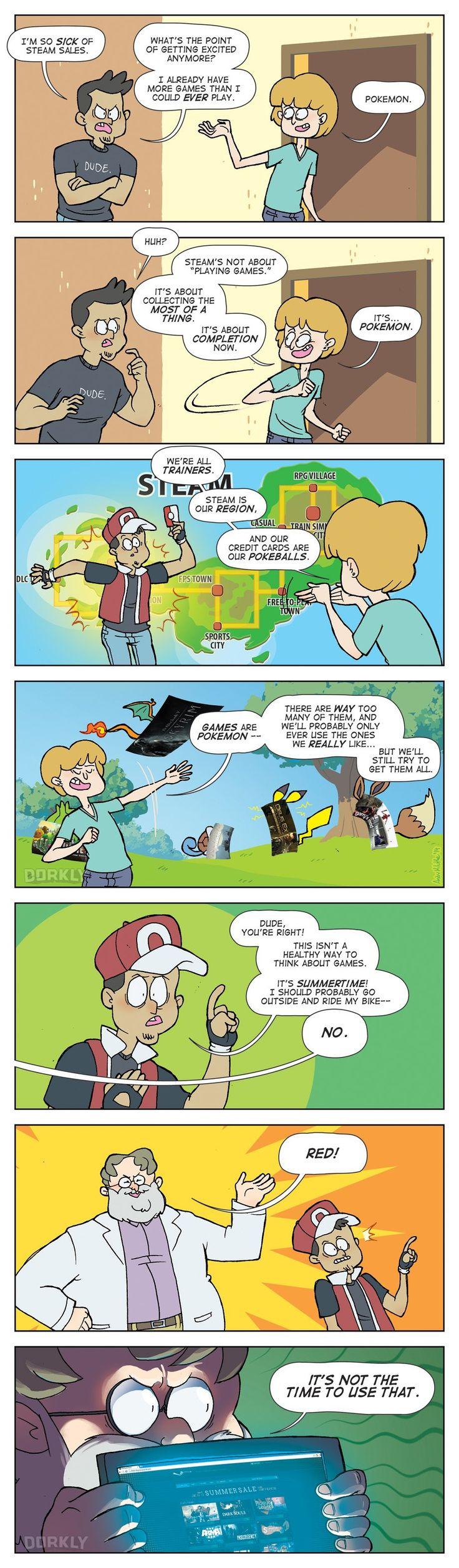 """The True Purpose of Steam Sales"" #dorkly #geek #steamsale"