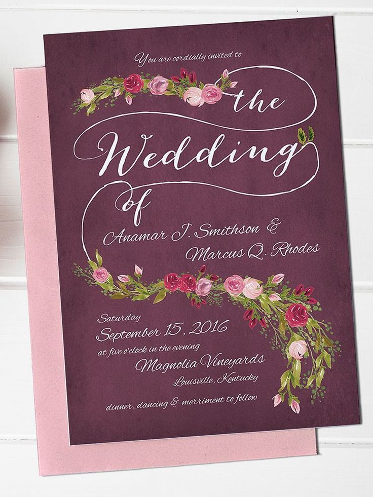 funny wedding invitation rsvp goes viral%0A Capture the love of garden romance with a whimsical  cascading rose garland  design on floral DIY wedding invitation templates