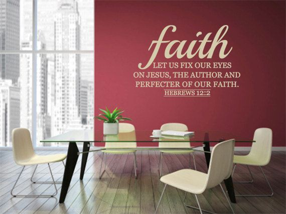 Best Wall Art Scriptures Images On Pinterest Scriptures - Vinyl decals for walls etsy