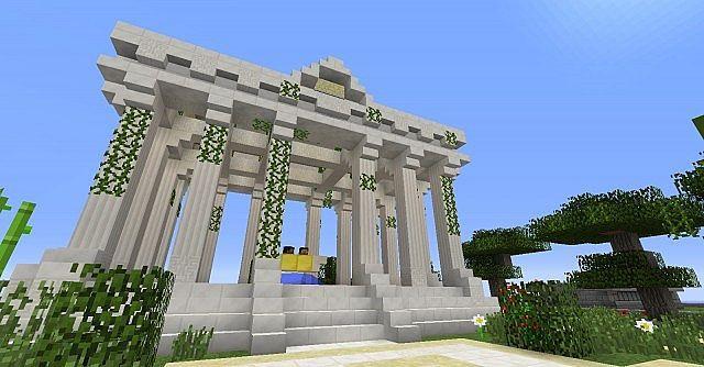Temple Of Demeter Minecraft Map Minecraft Temple Minecraft
