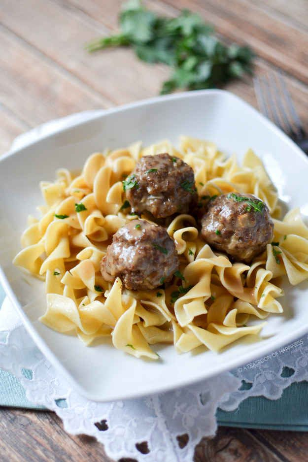 Meatball Stroganoff | 25 Delicious Dinners You Can Make With Ground Beef Or Turkey