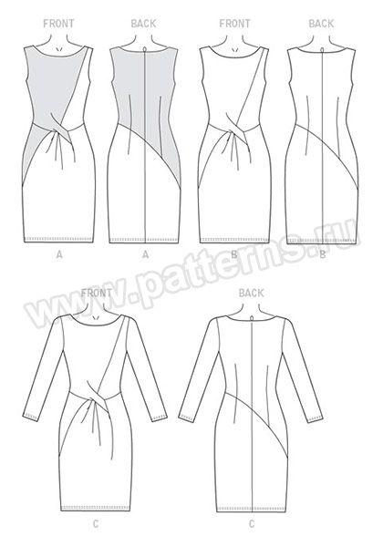 Выкройка Vogue — Платье с драпировкой - V9148 | Платья