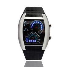Nova Moda Legal Flash LED Digital Assista Inovador Medidor de Ar Do Carro Esportivo de Corrida Mostrador do relógio crianças Eletrônicos de Led Relógios Binários(China (Mainland))