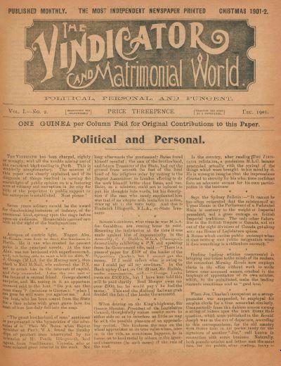 The Vindicator, 1901. http://encore.slwa.wa.gov.au/iii/encore/record/C__Rb1735021__SVindicator__P0%2C1__Orightresult__U__X8?lang=eng&suite=def