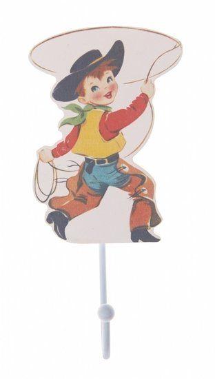 Cowboy Kinderkamer Haakje, Hip & Vintage Billy de Cowboy kinderkapstokje.