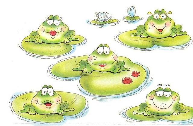 Poema infantil: Una familia de ranas