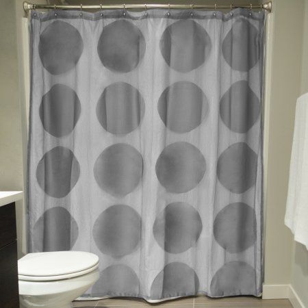 Lace Shower Curtain, Gray