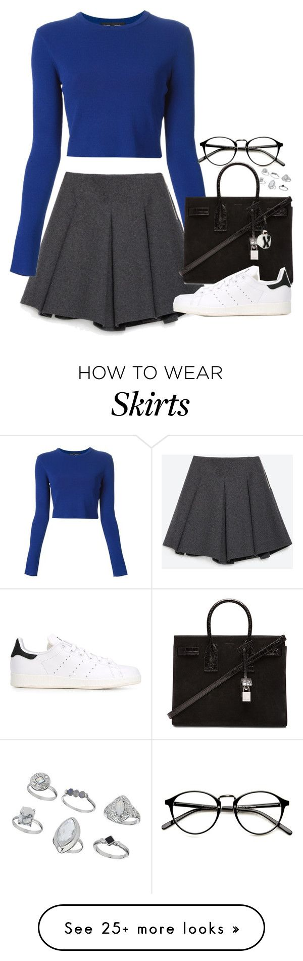 """Untitled #4866"" by eleanorsclosettt on Polyvore featuring Zara, Proenza Schouler, Miss Selfridge, Yves Saint Laurent, adidas Originals and Fendi"