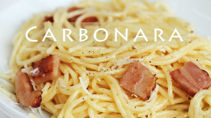 """Learn how to make spaghetti carbonara. Here goes a simple and easy recipe. """"See more"""" for the ingredients. Subscribe: http://bit.ly/eugeniekitchen Find all t..."""