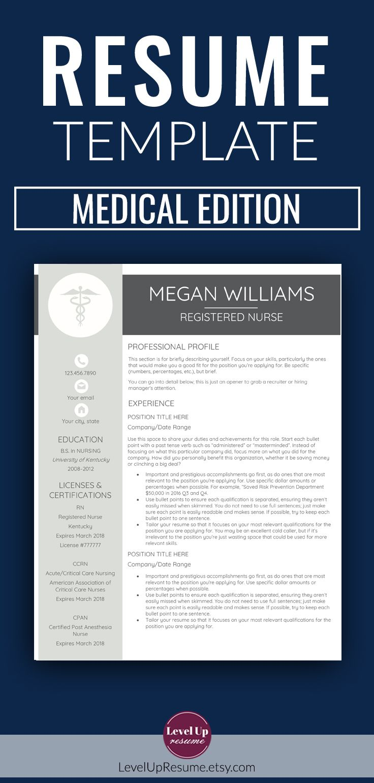 nurse medical edition resume template free