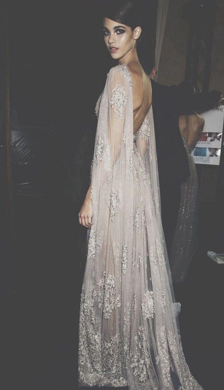 gorgeous wedding dress with cape sleeve #weddingdress #weddinggown