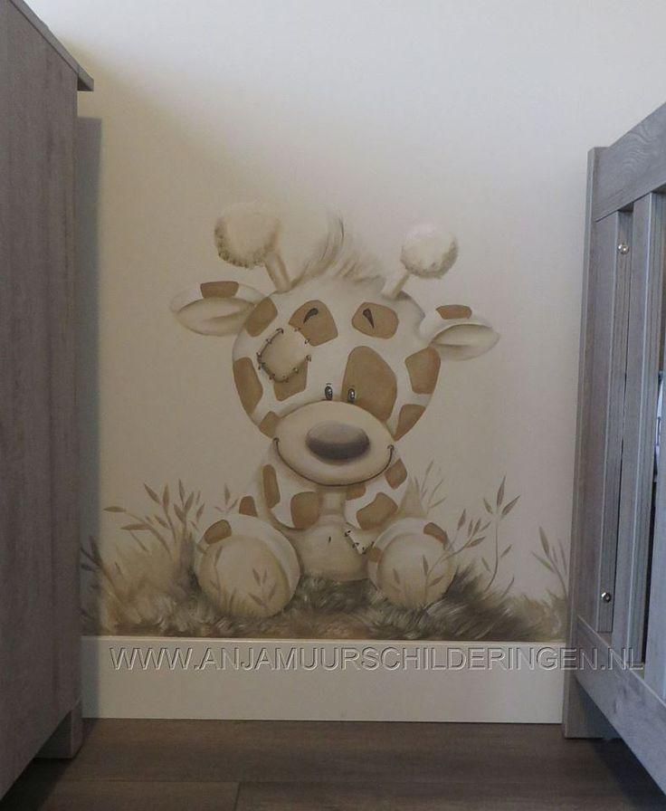 Schattige muurschildering