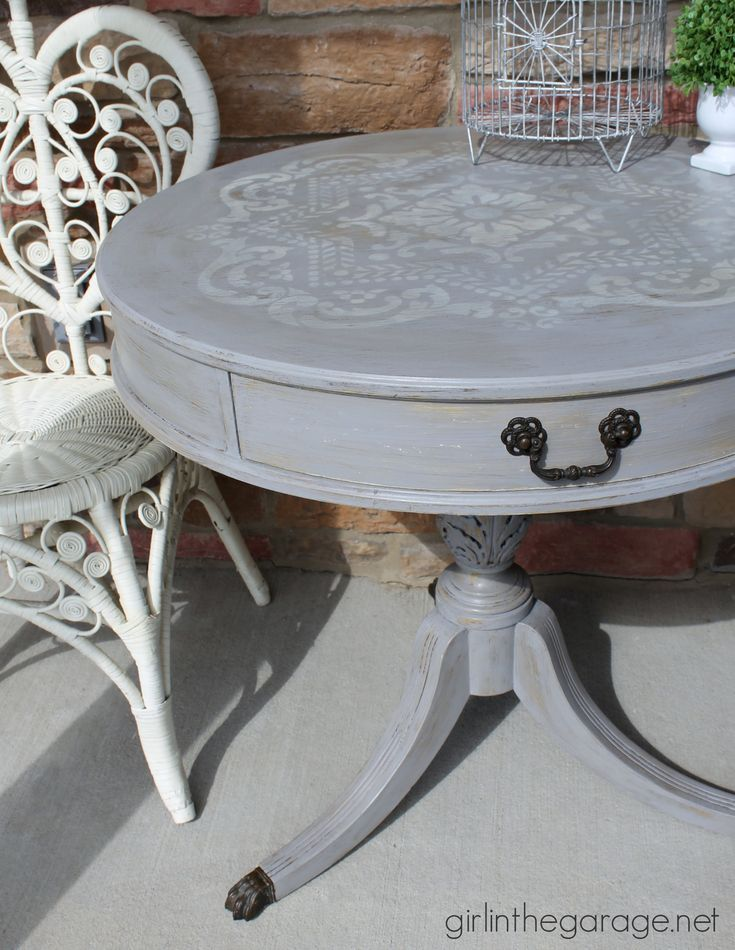17 Best Ideas About Painted Round Tables On Pinterest
