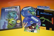 Monsters Inc. DVD (2 Disc set) Disney Pixar Movie Animated Feature