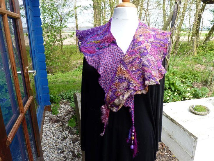 felted neckcollar gevilte kraag door Werkenmetwol op Etsy