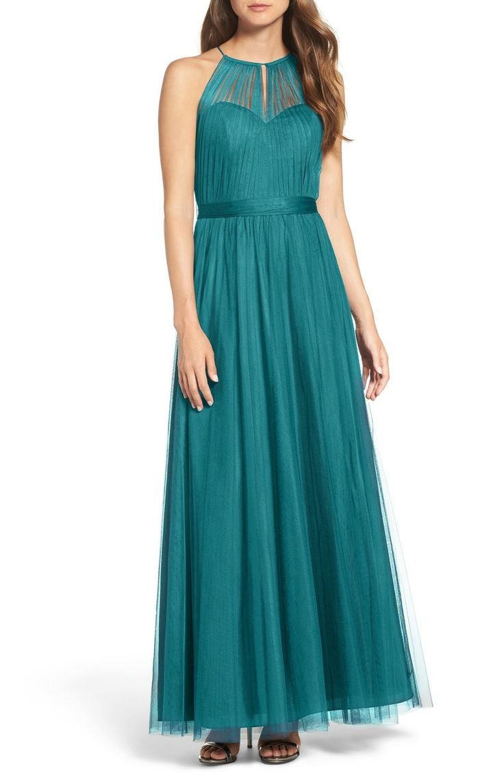 one of my favorites  WTOO Tulle Halter Neck Gown  Nordstrom