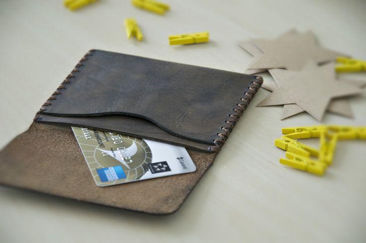 Pocket Slim Wallet, Handmade Leather Wallet, Mens Leather Wallet, Personalized Leather Wallet